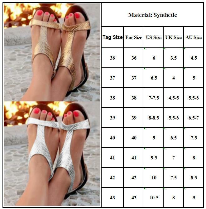 Women Low Heel Flat Sandals Flip Flop Slingback Toe Post Summer Beach Shoes Size 1