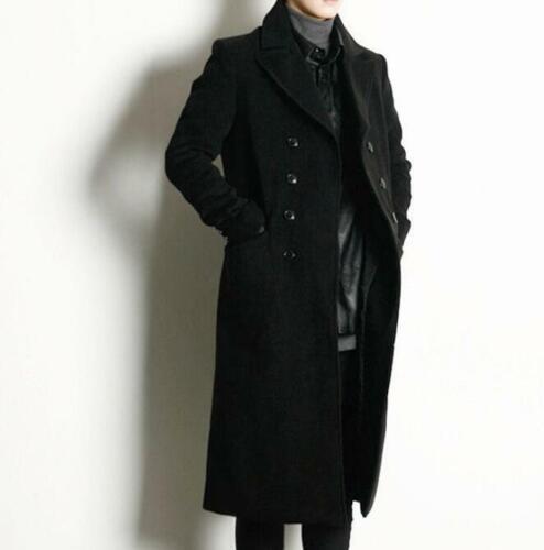 Mens Double Ted Overcoat Knee, Knee Length Mens Trench Coat