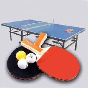 Kit de 2 raquettes de Ping-pong avec 3 balles 100% neuf VVV