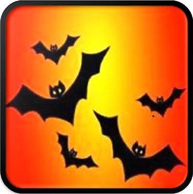 30 Custom Halloween Bats Personalized Address Labels
