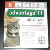 Bayer Advantage II For Small Cats 5-9 lbs (2 Pack)