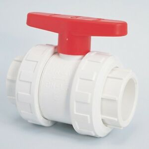 swimming pool pond 1 5 double union ball valve pipe fittings white ebay
