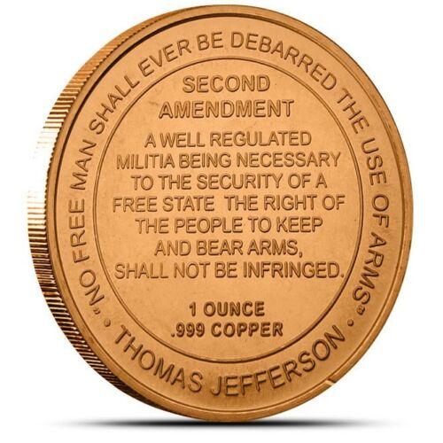 1 oz Copper Round - 2nd Amendment