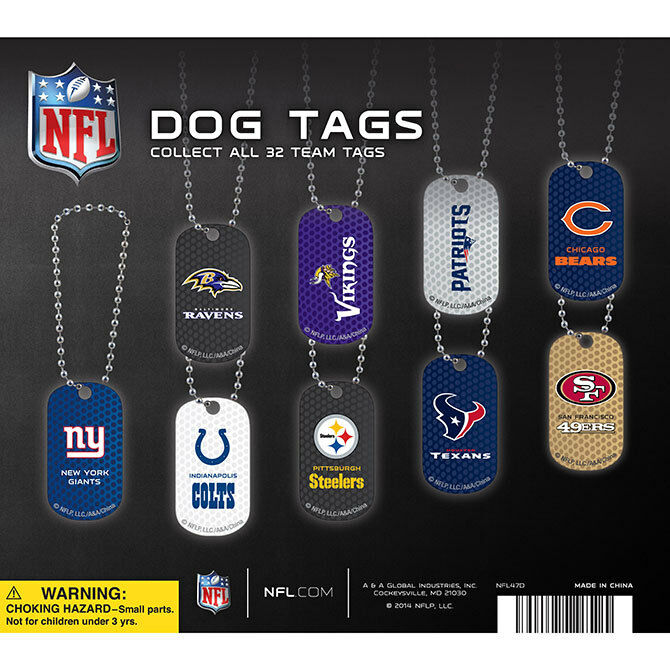 NFL LOGO DOG TAGS DOGTAG KEY CHAIN OR NECKLACE CHOOSE YOUR TEAM RAMS RAIDERS
