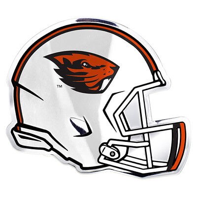 NCAA Oregon State University Beavers 3D COLOR ALUMINUM HELMET AUTO EMBLEM - Oregon State University Helmet