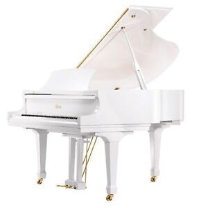 Essex White Grand Piano