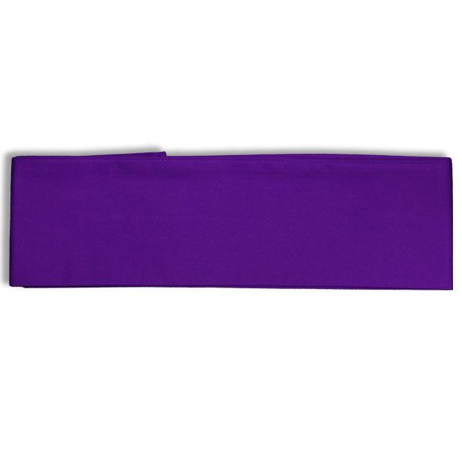 """Japanese Cotton OBI Sash Belt Kimono Yukata 4"""" W x 110"""" L/Purple"""