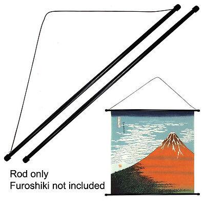 """Set of 2 PCS 30"""" Japanese Furoshiki Plastic Stick String Wall Hanging Hanger Rod"""