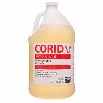 Corid 9.6 Solution Amprolium Water-soluble Coccidiosis Prevention Cattle Gallon