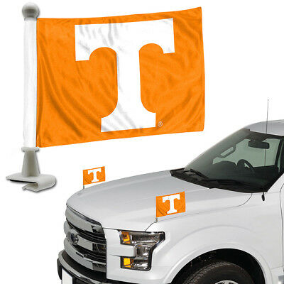 - Tennessee Volunteers Set of 2 Ambassador Style Car Flags - Trunk Hood