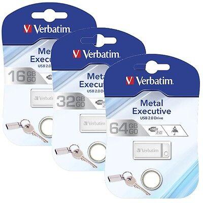 Verbatim Store n Go Metal Silber USB 2.0 Speicherstick 16GB 32GB 64GB