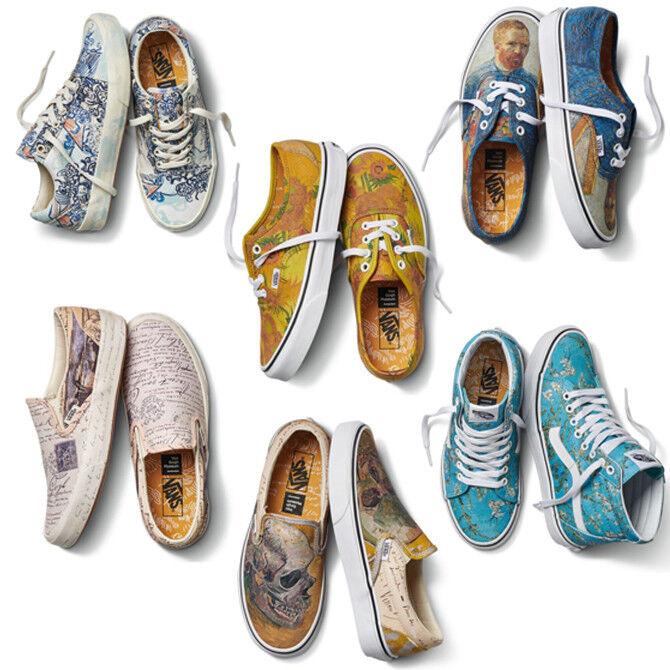 5b1ed361b62 Vans x Vincent Van Gogh Museum Authentic Slip-On SK8-Hi Old Skool Shoes  Pick 1