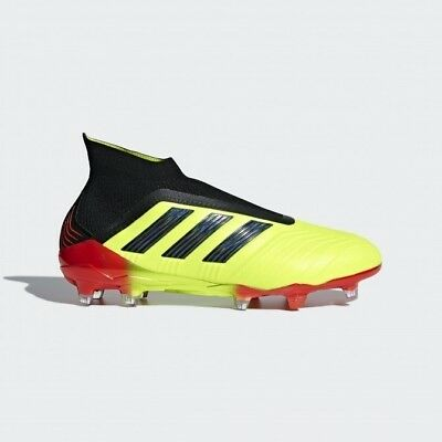 92be62d47 Adidas Predator 18+ FG Men s Soccer shoes Cleats Yellow Black Red DB2010 ALL