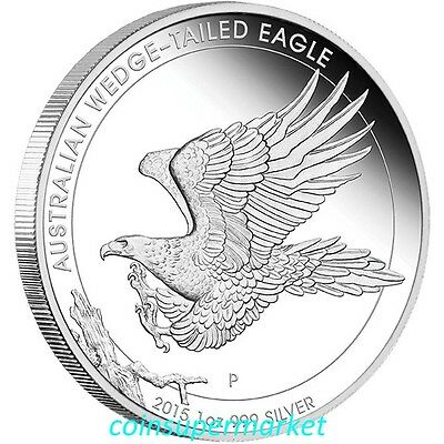 2015 Australia Wedge-tailed Eagle 1oz Silver Proof Coin The Perth Mint COA Box!
