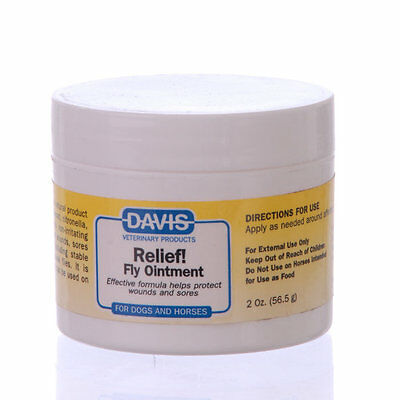 Davis Relief! Fly Ointment Insect Repellent for Pets Cats Dogs 2 Oz. 56.5g ()