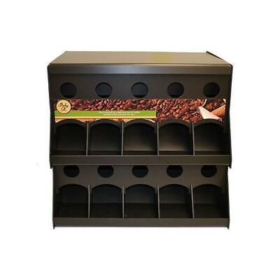 10 Section Coffee Pod Rack Dispenser Coffee Station Bin Organizer Kdr10