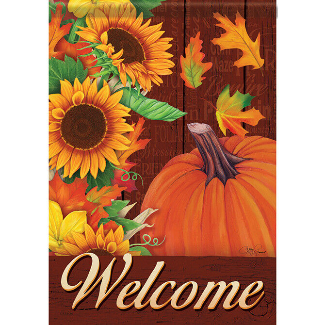 "Autumn Cascade Welcome House Flag  28"" x 40"" Double sided by"