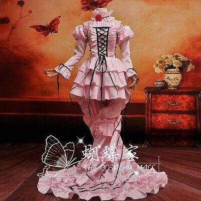 Chobits Chii Cosplay Kostüm costume Kleider Abend-Kleid Pink Lolita Gothic Rosa