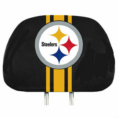 Pittsburgh Steelers 2-Pack Color Print Auto Car Truck Headrest Covers