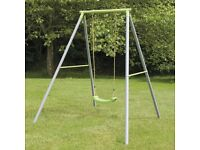 TP Toys Single Swing, from age 3 upwards, 2 interchangeable seats (1 baby bucket seat and 1 flat)