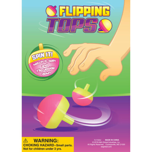 12 pc Tippe Flip Over Spinning Tops Retro Toy Teacher School Carnival Prizes