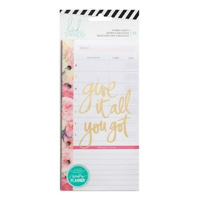 Heidi Swapp Memory Planner Personal Planner Meal Plan Inserts 313361