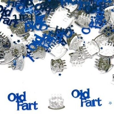 OLD FART BLUE & SILVER MEN'S BIRTHDAY TABLE CONFETTI PARTY - 14G BAG!