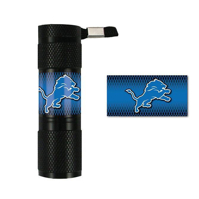 Licensed NFL Football Detroit Lions 9x LED Flashlight Water Resistant