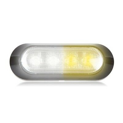 Maxxima M20384wycl Whiteamber 4 Led Warning Strobe Light Surface Mount