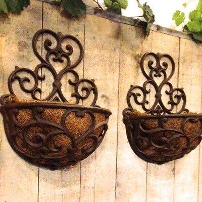 Blumenkasten im Landhausstil, Sevilla Metall Balkonkästen mit Kokoseinlage