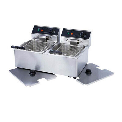 Electric Counter-top Dual Tank Fryer - 110v 3300w