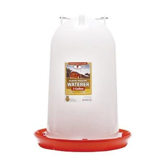 Plastic Poultry Fountain, 3 Gallon Chicken Waterer NEW