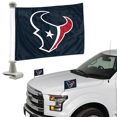 - Houston Texans Set of 2 Ambassador Style Car Flags - Trunk, Hood