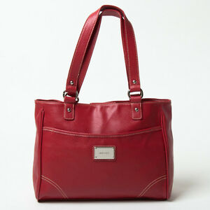 NINE WEST RED SADDLE TOTE BAG ONLY $54.99! COMPARE AT $110!