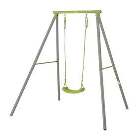 TP Galvanised steel single swing frame with junior blue seat