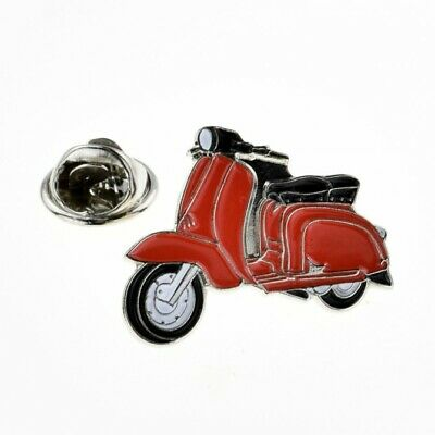 Red Scooter Enamel LAPEL PIN BADGE Hat Bag MOD Bike Rider Club BIRTHDAY PRESENT (Red Rider Scooter)