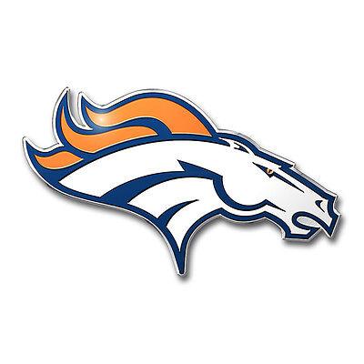 New NFL Denver Broncos 3D Aluminum Color Car Truck Auto Emblem Sticker Decal](Denver Bronco Colors)