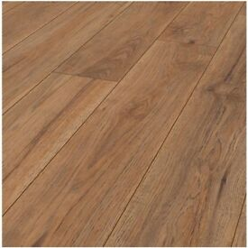 X13 PACKS MARDY GRAS HICKORY 8MM V GROOVE LAMINATE FLOORING 26m2 COVERAGE