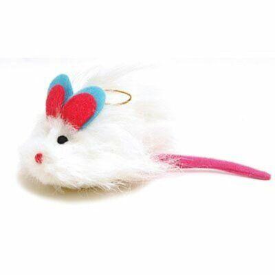 Fuzzy Maus für Katzenspielzeug Pelz Ohren und Schwanz Big Ball für Ihre Kitty