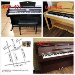 Yamaha Digital Piano & Other Brand Name Digital Piano 88 Fully Weighted Keys 3 Pedal Stand With Warranty www.musicm.ca