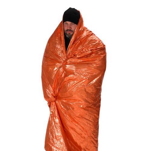 NDuR orange silver EMERGENCY SURVIVAL protection BLANKET new 61425