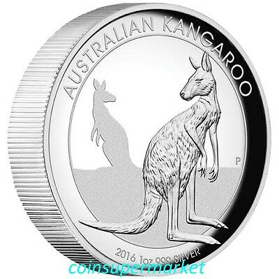 2016 Australia Kangaroo High Relief Proof 1oz Silver Coin Perth Mint COA & Box!