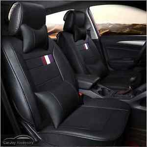 Black Leather 5 Seats Car Seat Covers Mazda 3 Mazda 6