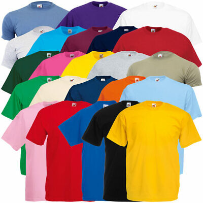 a4c3cd2bed2fb4 3er Pack FRUIT OF THE LOOM Valueweight T-Shirts viele Farben Gr. S-XXL