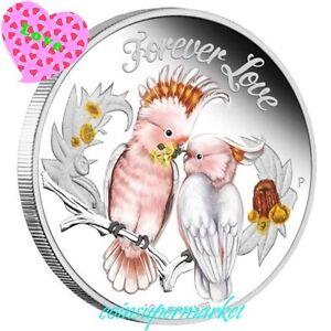 2014-Australia-Forever-Love-Major-Mitchell-Cockatoo-1-2oz-Silver-Proof-Coin-COA