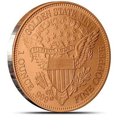 1 oz Copper Round - Peace Dollar
