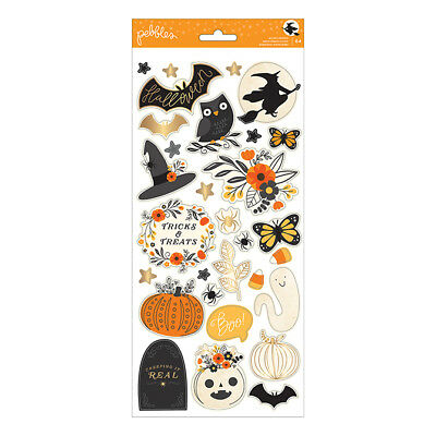 Scrapbooking Crafts Stickers Halloween Midnight Haunting Owl Witch Moon Ghost