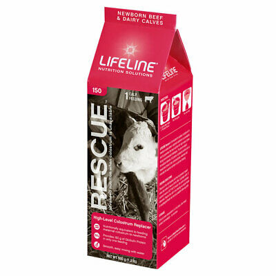 Used, Lifeline 150 Rescue Hi-Level Colostrum Replacer for Beef and Dairy Calves, 550gm for sale  Fort Dodge