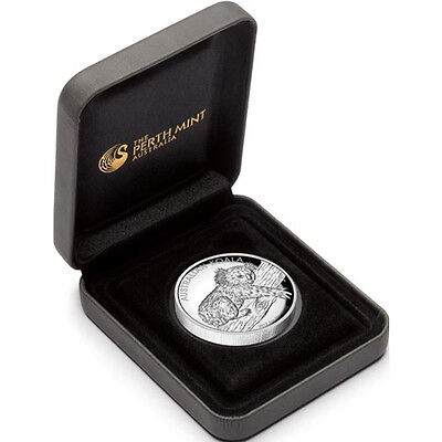 2012 Australia Koala High Relief Proof 1oz Silver Coin 10000 Minted COA & Box on Rummage