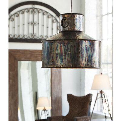 Oxidized Metal Chandelier Bronze 14D Light Verdigris Pendant Rustic Farmhouse